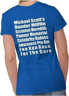 Brisco Brands Dunder Run Race Cure Funny Scranton TV Comedy Ladies T Shirt
