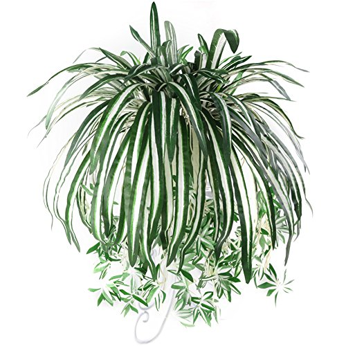 Huhuswwbin Künstliche Pflanzen 1 Stück Chlorophytum Comosum Kunstpflanze Haus Hotel Dekor Künstliche Spinnen Pflanze