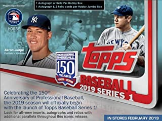 2019 Topps Series 1 Baseball Jumbo Box (1 Auto, 2 Relics, 2 Silver Packs)
