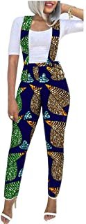 African Overall Pants for Women Wax Prints Fabric Casual Girls