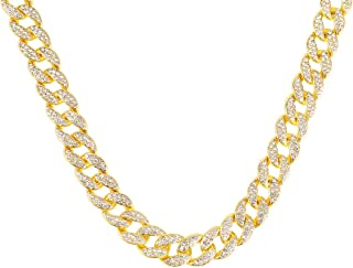 18K Gold Plated Rhinestone Hip Pop Chain Necklace Chocker 8