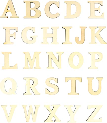 2021 Larcele wholesale Wooden Letters Capital and Lowercase Letters Decoration Letter Recognition new arrival 4mm Wood Art Craft Ornaments ZMTY-01 (Capital) sale