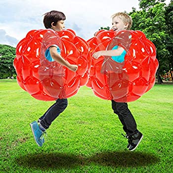 SUNSHINEMALL  2 Pack  zorb Ball for Kids Kids Bumper Balls Inflatable Body Bubble Ball Sumo Bumper Bopper Toys Heavy Duty Durable PVC Vinyl Kids Adults Physical Outdoor Active Play