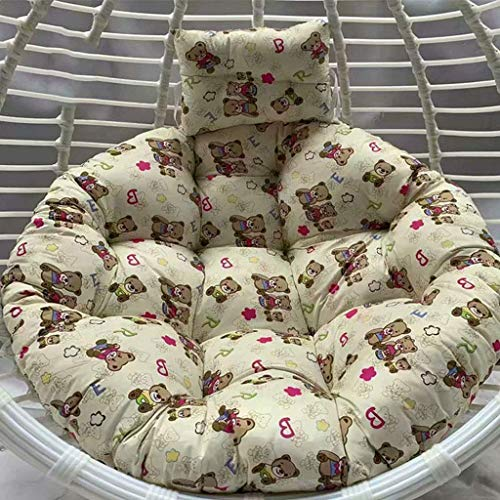 ZHBH Cesta colgante para asiento colgante, cojín lavable de ratán, cojín de silla para colgar en interiores y exteriores, patio, tamaño: 110 x 110 cm (color: 3) (excluido
