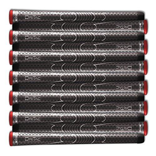 Winn Dri-Tac Standard Size Golf Grips - Set of 9, Dark Gray