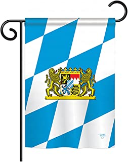 "Breeze Decor G158202 Bavaria Flags of The World Nationality Impressions Decorative Vertical Garden Flag 13"" x 18.5"" Printed in USA Multi-Color"