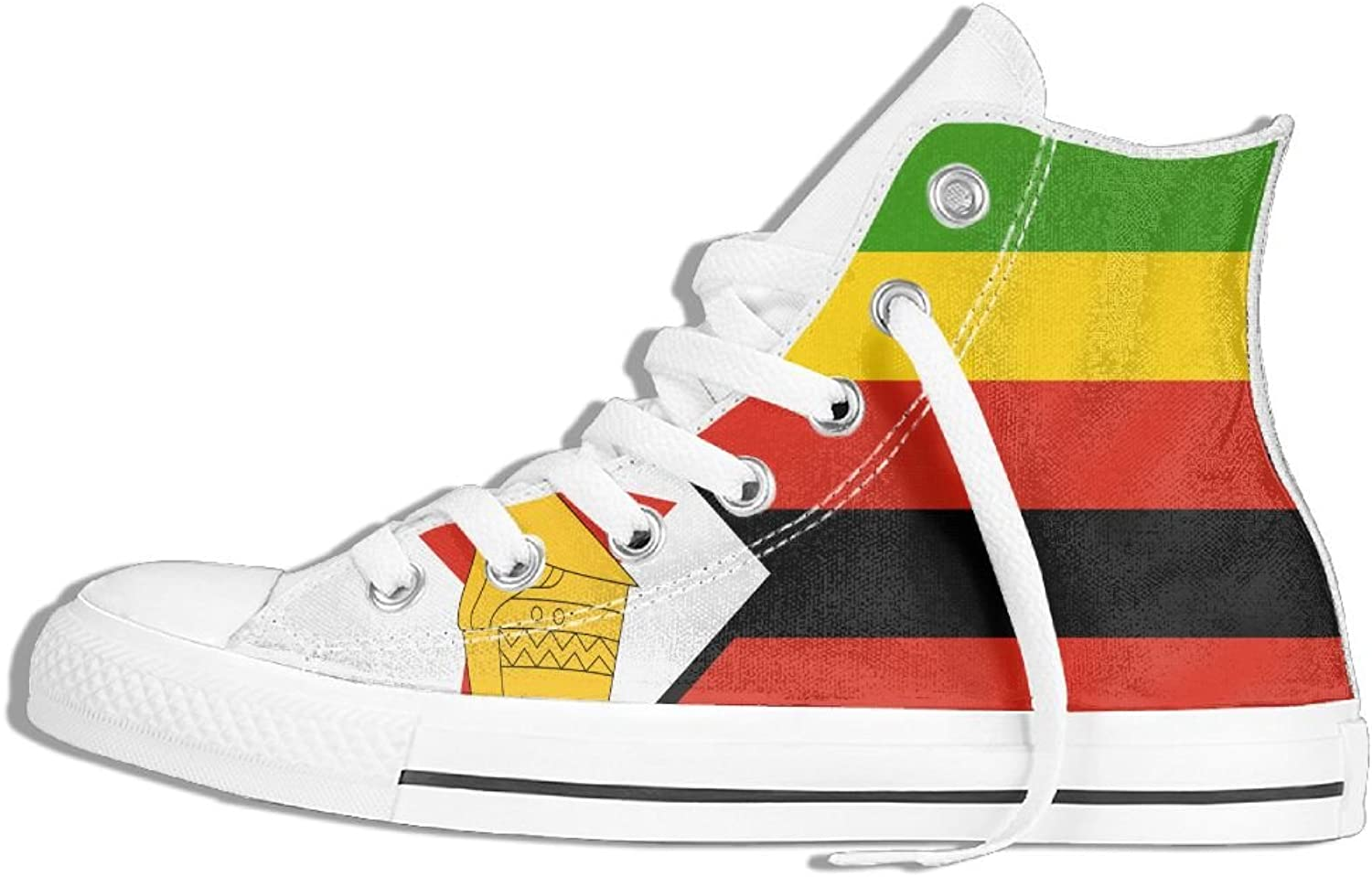 Unisex High Top Sneakers Flag Of Zimbabwe Classic Canvas shoes Breathable Sneaker