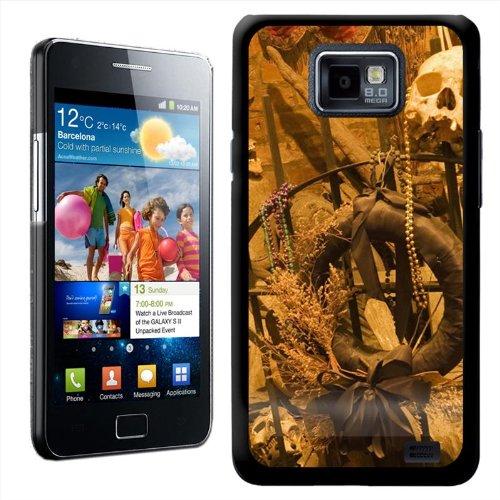 Fancy Een Snuggle Schedel Ontbrekende Onderkaak op IJzeren Poort Ontwerp Hard Case Clip Op Achterzijde Cover voor Samsung Galaxy S2 i9100