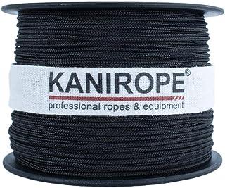Kanirope Polyesterseil Seil Polyester POLYBRAID 1mm 100m Schwarz 12-fach geflochten