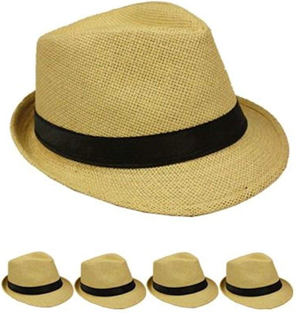 Fedora Hat Tan High Structured Bulk Price 12 Pack