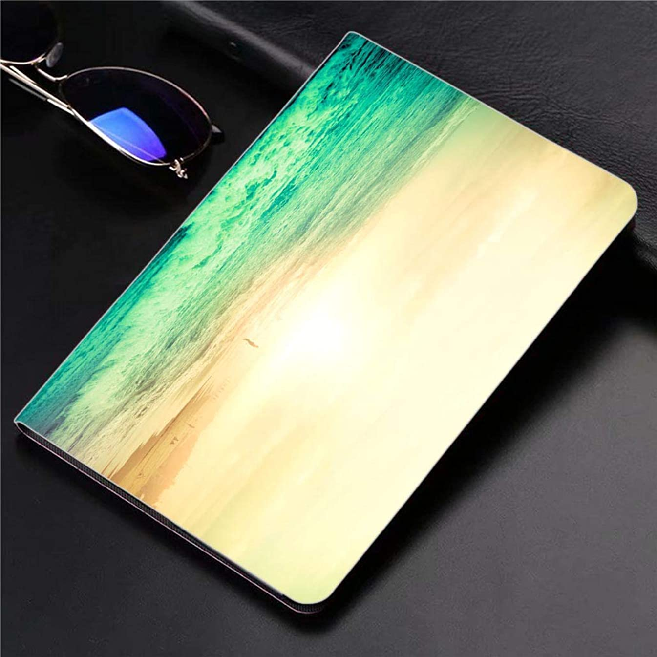 Compatible with 3D Printed iPad Pro 10.5 Case Amazing Sunset at The Beach 360 Degree Swivel Mount Cover for Automatic Sleep Wake up ipad case