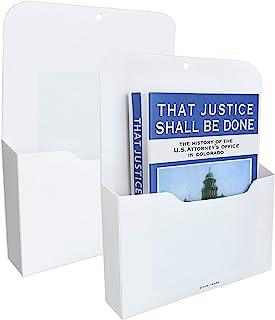 2 Pack Magnetic File Holder - Paper Holder, Pocket Organizer,Hanging Wall File Organizer Office Supplies Storage, Magazine...