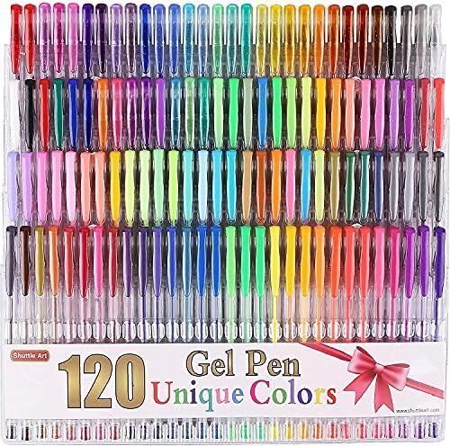 SHUTTLE ART Unique Colors Gel Pen Set