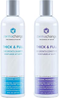 Hair Growth Shampoo and Conditioner Set For Woman and Men - Vegan Shampoo and Conditioner Set Sulfate Free, Hair Thinning ...