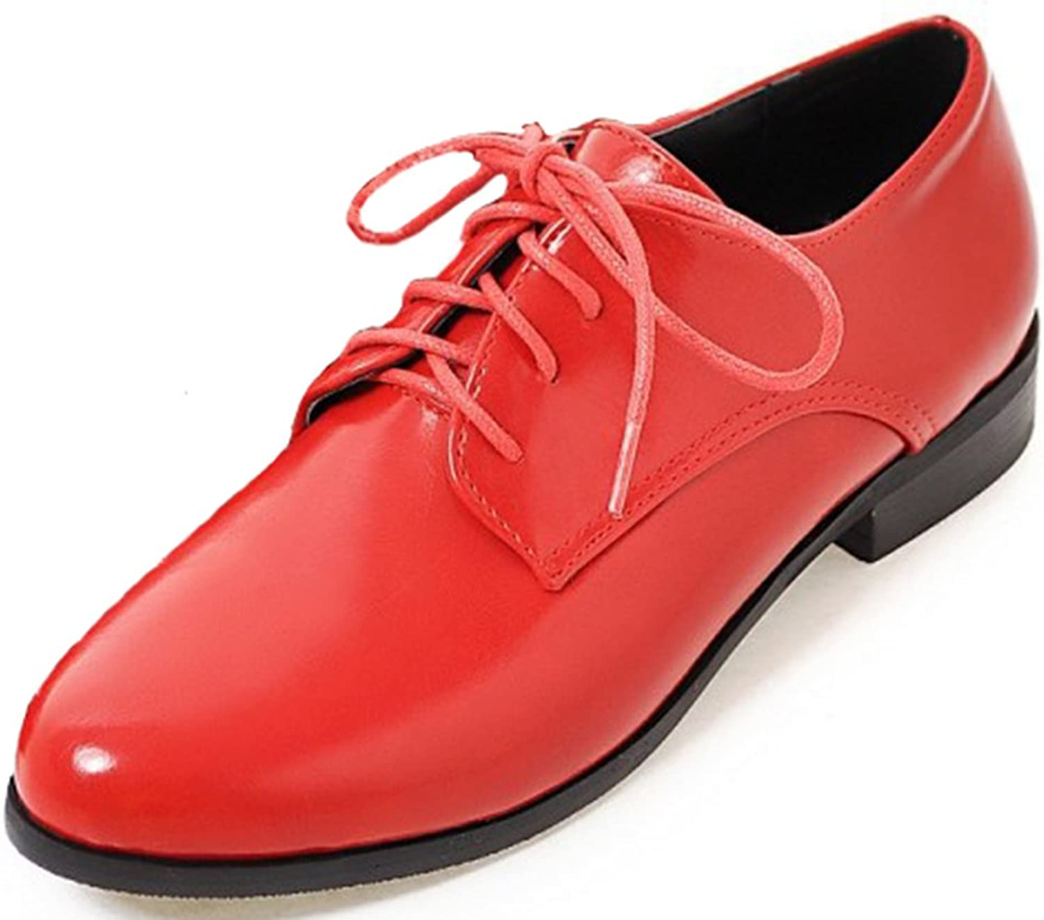 SFNLD Women's Fashion Pointed Toe Lace Up Oxfords shoes