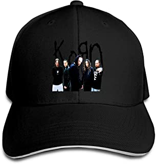 Korn Outdoor Visor Cotton Snapback Hat Adjustable White
