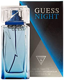 Guess Night Eau de Toilette Spray for Men, 3.4 Ounce