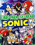 Sonic Libro Para Colorear: Sonic 2021 La Mejor Colección De Cómics Para Colorear Con Las Mejores Ilustraciones No Oficiales