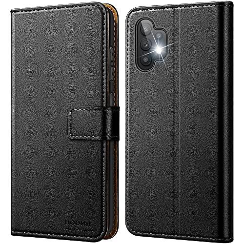 HOOMIL Handyhülle für Samsung Galaxy A32 5G Hülle, Premium Leder Flip Hülle Schutzhülle für Samsung Galaxy A32 5G Tasche (Schwarz)