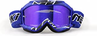 MX Goggles For Youth By NENKI For Motocross Motorcycle Dirt Bike ATV Offroad Ski Snowboard with Anti Fog and 100% UV Protection Lens NK-1018 (Blue)