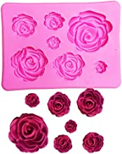 6 Hohlraum DIY Rose Blume Form Silikonform Kuchenform Ausstecher