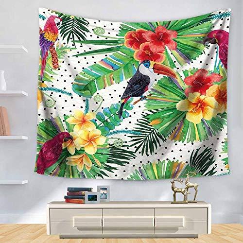Tapestry Wall Hanging,Bunte Tropische Tukan Natürliche Pflanze,Böhmische Mandala Spirituelle Wandteppiche Yoga Meditation Boho Studio Zimmer Kunst Home Decoration Geschenk Schlafzimmer Dekor Wo