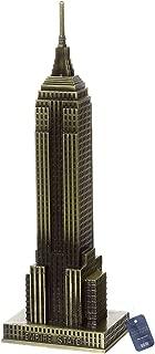 ZOVIE Empire State Building Metal World Building Model Home Desk Decoration (Empire State Building)