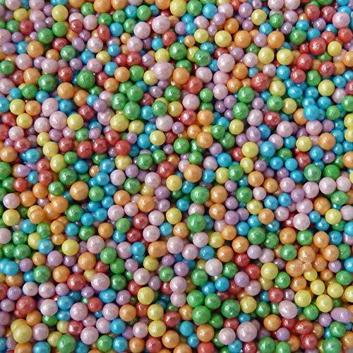 Bolitas multicolor comestibles 100 y 1000 para decoración de tartas, 100g