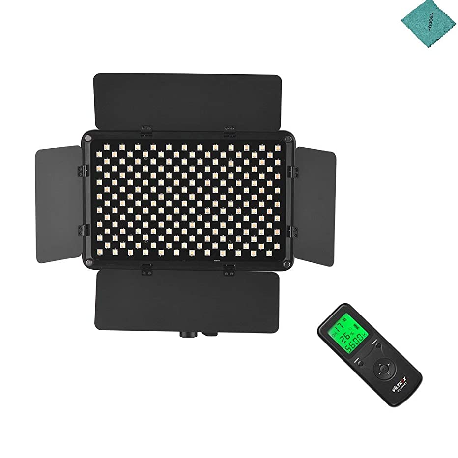 VILTROX VL-S192T Professional Ultra-Thin Bi-Color Dimmable LED Video Light 3300K-5600K CRI 95+ with Light Barrier Remote Controller for Wedding Interview Photography with Andoer Cleaning Cloth