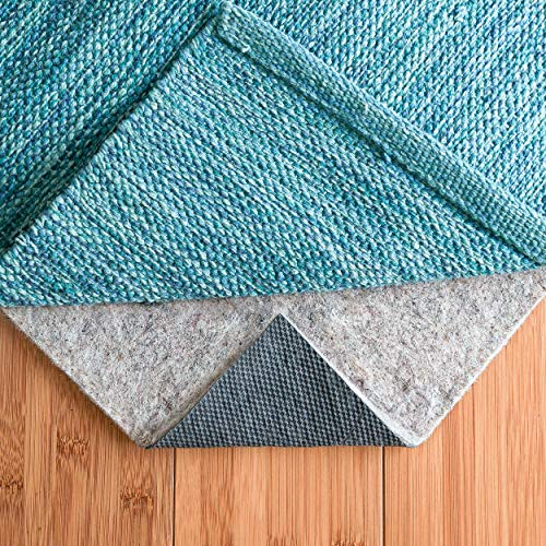 RUGPADUSA - Basics - 5'x7' - 1/4' Thick - Felt + Rubber - Dual Surface Non-Slip Rug Pad - Cushioning Felt for Added Comfort - Safe for All Floors and Finishes