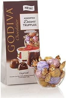 Godiva Chocolatier Assorted Chocolate Dessert Truffles, Assorted Chocolate Truffles, Chocolate Desserts, Great Gifting Assortment, 19 pc