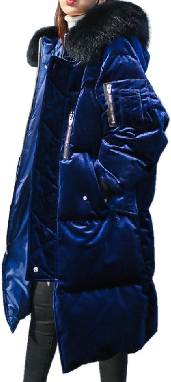 CoolredWomen gold Velvet Loose Down Cotton Quilted Jacket