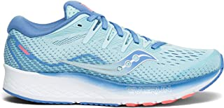 Saucony Women's Ride ISO 2 Athletic Shoe, Blue/Coral, 8 M US