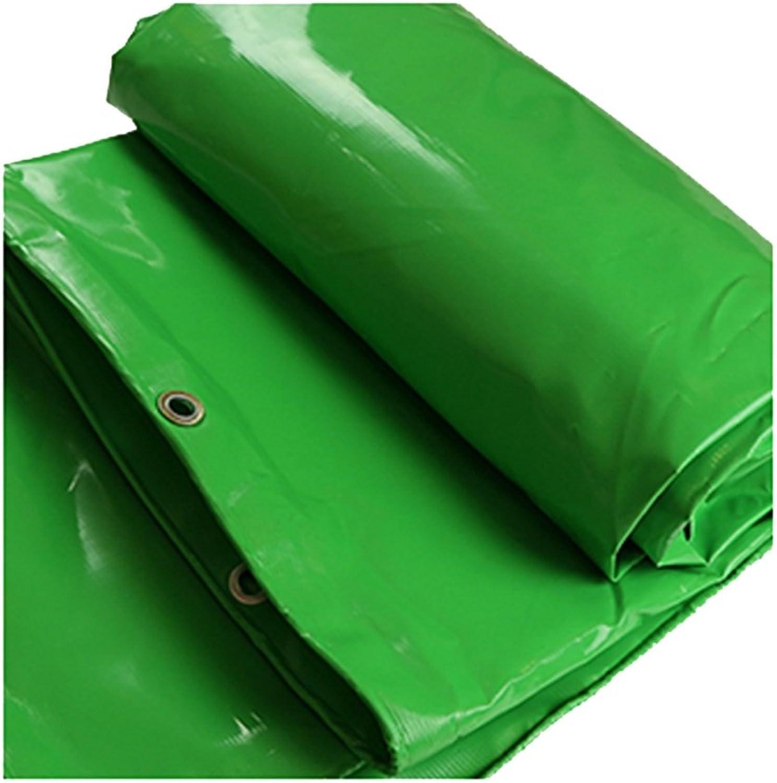 Hyzb PVC doppelseitige Wasserdichte Leinwand Plane Grünhouse Truck Shading Sonnencreme (Farbe   Grün, größe   4  5m) B07QGM2J9P  Sehr gute Qualität