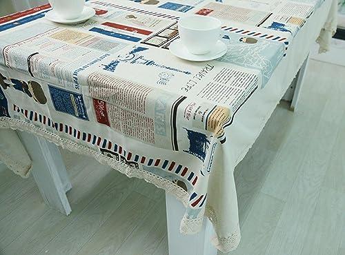 Europ ch 100% Baumwolle Mode Einfach Rechteckig Essen Tischdecke zum Zuhause Hotel Cafürestaurant LAD-I , 14025cm