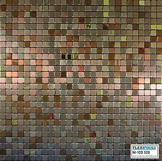 FLEXIPIXTILE,10-Piece Aluminum Mosaic Tile, Peel & Stick, Backsplash, Accent Wall,The Palace