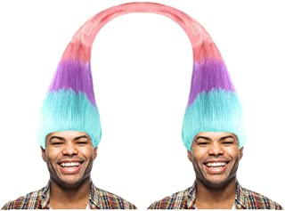 Halloween Party Online Twin Troll Wig, Multicolored Kids