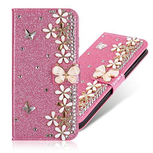 Mousseux Sparkle Bling Glitter Diamant Folio pour Huawei P30 Pro