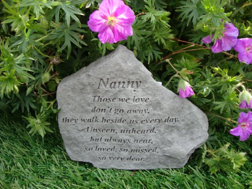 Kay Berry Ireland Nanny Memorial Garden Stone Plaque Grave Marker Ornament