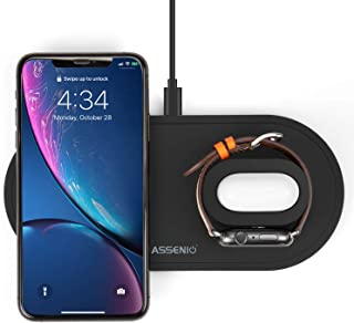 3 in 1 Wireless Charger Stand Holder & Charging Station,ASSENIO Wireless Charging Pad Compatible...