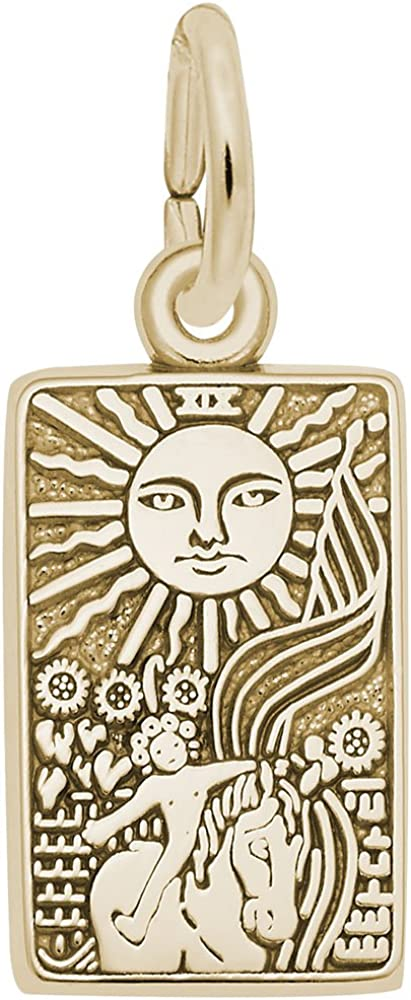 10k Yellow Max 46% OFF Gold Tarot Soldering Card Charm Charms Neckl for and Bracelets
