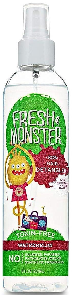 Fresh Monster Kids Detangler Spray Watermelon, 1 count, 8 ounce bottle for FINE to NORMAL hair types