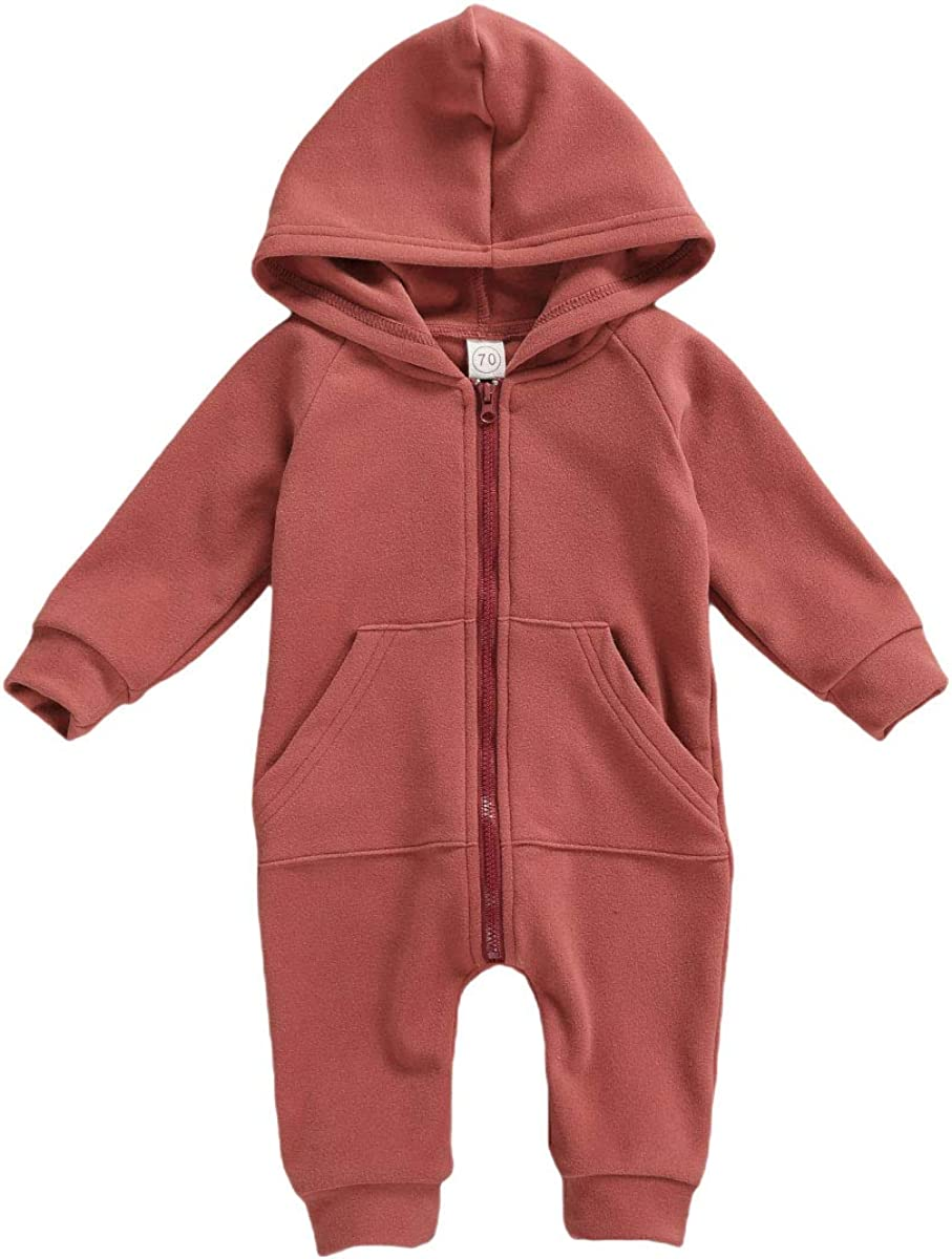 Seyurigaoka Baby Boys Girls 2021 spring and Clearance SALE! Limited time! summer new Jumpsuit Hoodie Zipper Romper S Long