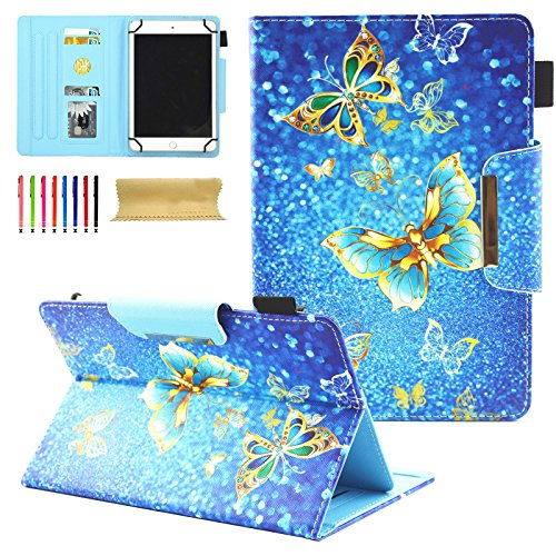 Universal 8.0 inch Tablet Case, Dteck Stand Folio Flip Wallet Case For iPad Mini/Galaxy Tab/Amazon Fire HD 8/ Nextbook Tagital/Alldaymall/Dell/HP/LG G Pad and More All 7.5-8.5 inch