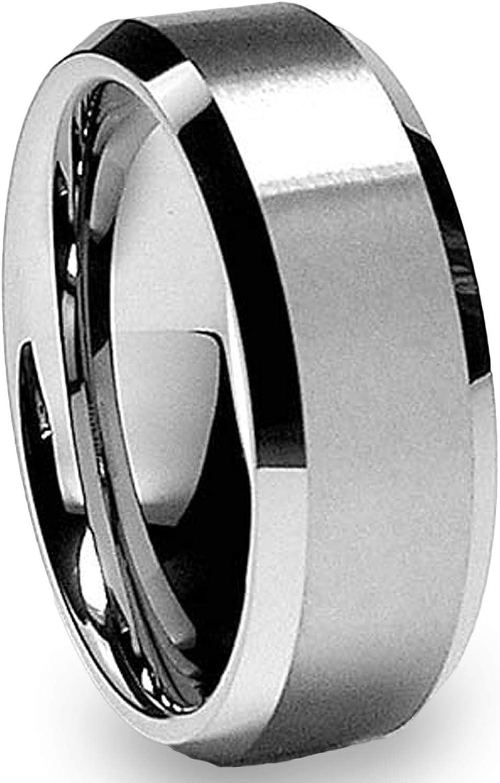 8MM High Polish Matte Finish Men's Max 80% OFF Bargain sale Wedding Ring Band Si Tungsten
