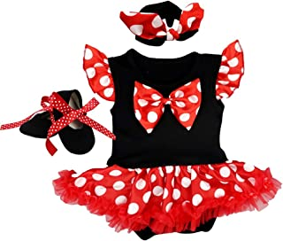 OBEEII Halloween Pagliaccetto Sirena per Bambina Neonata Body Tutine 3PCS Vestiti Romper Fascia Scarpe per Natale Festa Ca...