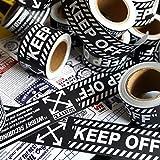 KEJIA Etiqueta engomada del Equipaje Cinta de Advertencia de Hip Hop Trolley Impermeable Etiqueta de la Maleta 5m