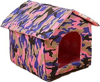 Cama del animal doméstico Casa plegable al aire libre de la prenda impermeable del gato perdido de la perrera de la litera...