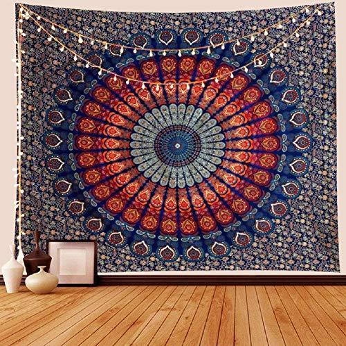 AdoDecor Wandbehang Mandala Wandteppich für Wohnzimmer Bohemian Throw Blanket...