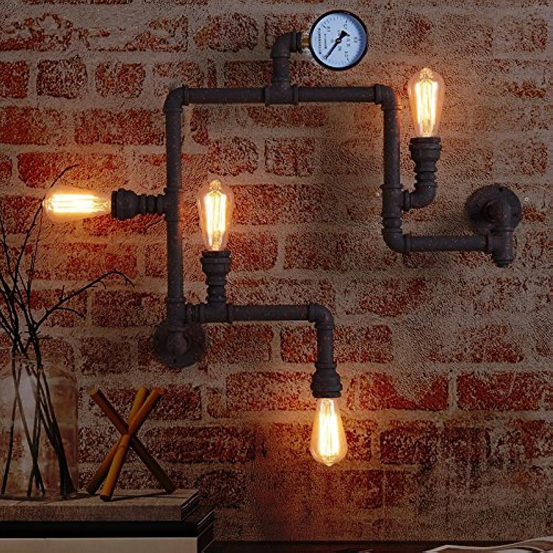 StiefelU LED Wandleuchte nach oben und unten Wandleuchten Lndliche Industrial Air cafe bar antiken Eisen Rohre zu Wandleuchten 36 cm  20 cm
